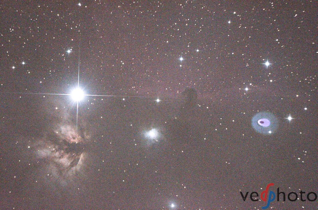 Horsehead Nebula sigle calibrated frame, HiMARC, Ved