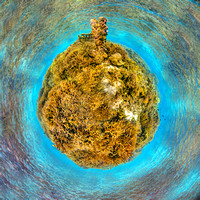Branching Coral of American Samoa, Ofu Island. Stereographic projection of HDR panorama