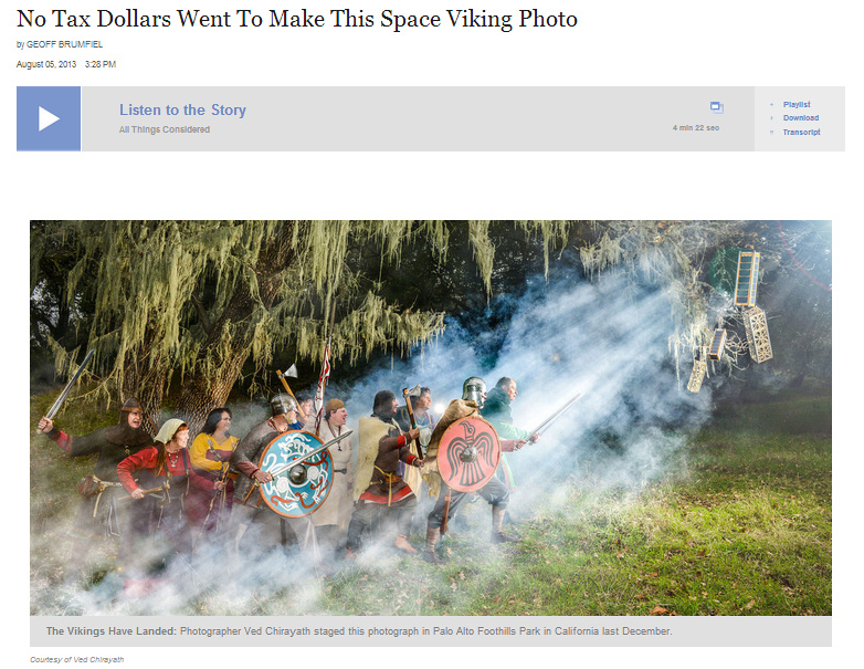 Space Vikings by Ved Chirayath in NPR